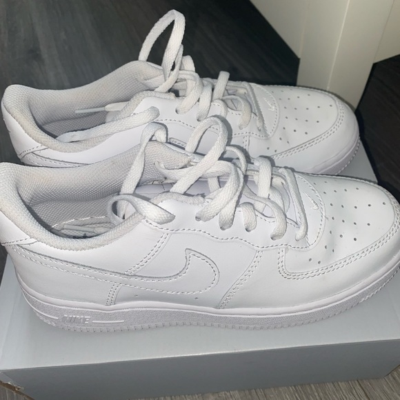 White air forces worn once